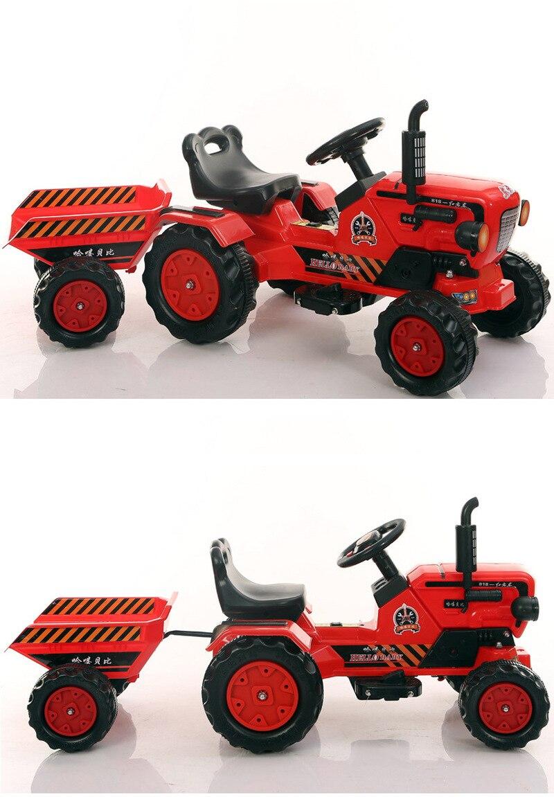 Детский экскаватор каталка игрушки автомобиль четыре колеса Электрический строительный автомобиль для детей кататься на ребенка большой инженерный игрушечный автомобиль years лет - 5