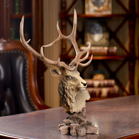 Selling high end real deer specimens really make money deer deer wall decoration deer gift resin craft ornaments
