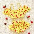 Crianças maiô meninas cereja bebek menina biquíni bebê swimwear meninas maiôs de natação para crianças meninas nadando roupas