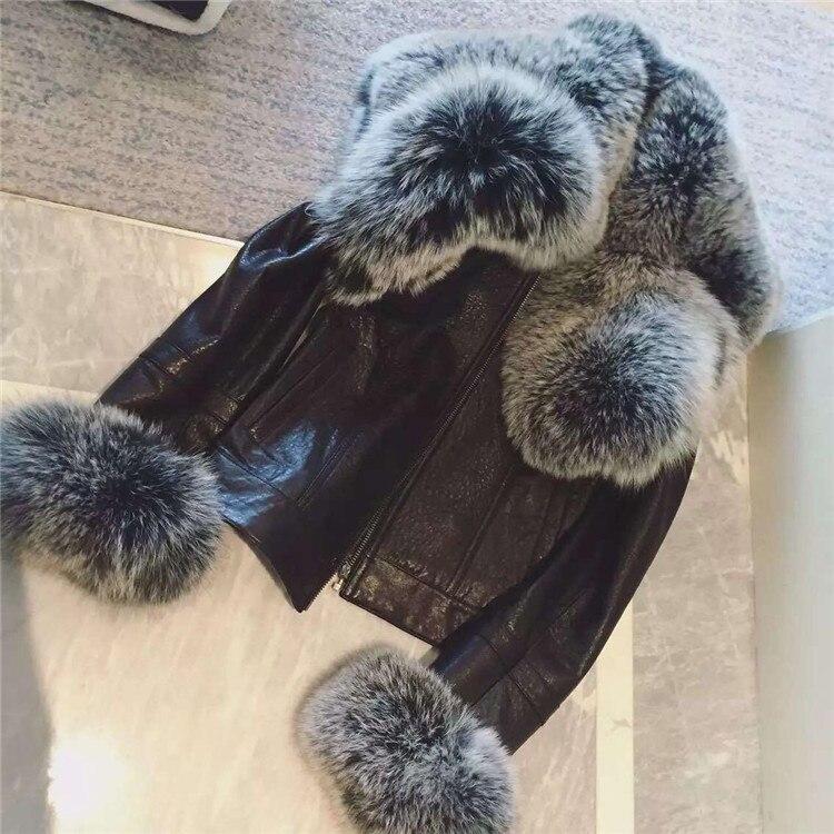 Women Fur Coat Winter Women Long Faux Fox Fur   Leather   Coats Furry Luxury Womens Fake Fur Jacket Faux Fur Coat Jacket