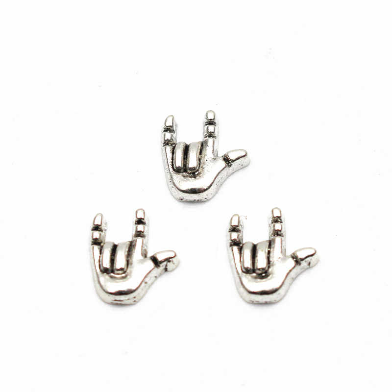 Wholesale 10pcs/lot love you sign language floating charms Alloy charms living glass memory lockets diy Jewelry