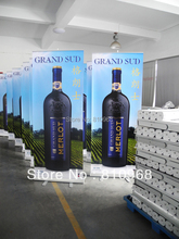 pull up stand, roll up screen banner, 2 roll up banners + a 6ft table cover