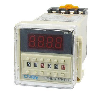 DH48S-S2Z Power on Time Delay Relay 8-Pin DPDT 0.1S-99H AC 48V w Socket