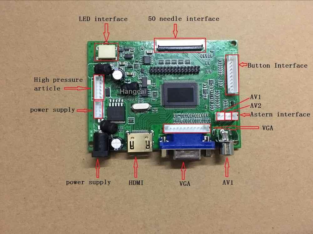40pin 50pin AT065TN14 AT070TN90 AT090TN10 HE080IA-01D LCD ekran Kontrol monitör HDMI VGA 2AV Ses sürücü panosu Kiti