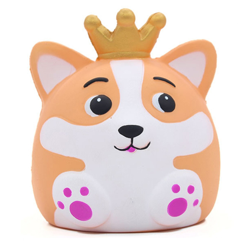 Jumbo Kawaii Crown Fox Squishy Creative Doll Animal Slow Rising Squeeze Toy Simulation Bread Scented Stress Relief For Kid Gift