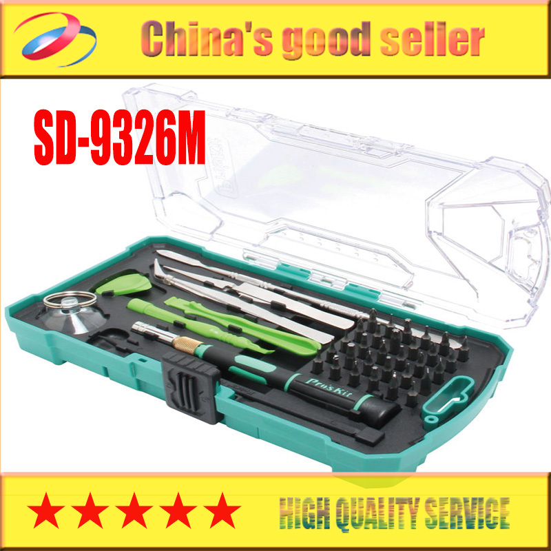 Brand ProsKit SD-9326M Consumer Electronic Equipment Repair Kit tool set for phone pc computer repair hand tools Free Shipping diy grommet eyelet pliers for clothes shoes hand tools kit setting with 50pcs set eyelets free shipping