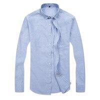 Man Plus size 8XL 7XL 6XL Long Sleeve Solid Men casual Shirts Oxford silk White Social Shirts business shirts Mens Clothing