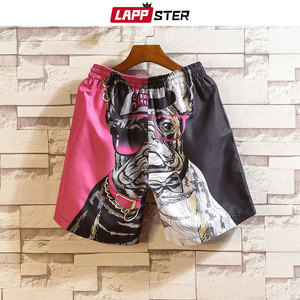 Image 3 - LAPPSTER Men Summer Patchwork Shorts 2020 Mens Streetwear Hip Hop Shorts Casual Shark Polyester Colorful Sweat Shorts Big Size