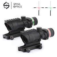d4b2a081b0 SPINA OPTICS Tactical Trijicon Acog Style 4x32 Rifle Scope Red Optical  Fiber Acog Style Hunting Shooting