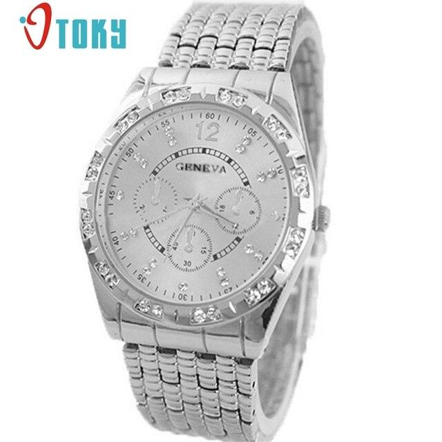 ed87fbd8de9 OTOKY Diamante Moda Homens Relógios Relógio Masculino Homens de Aço  Completa Relógio de Quartzo Negócios Relógios