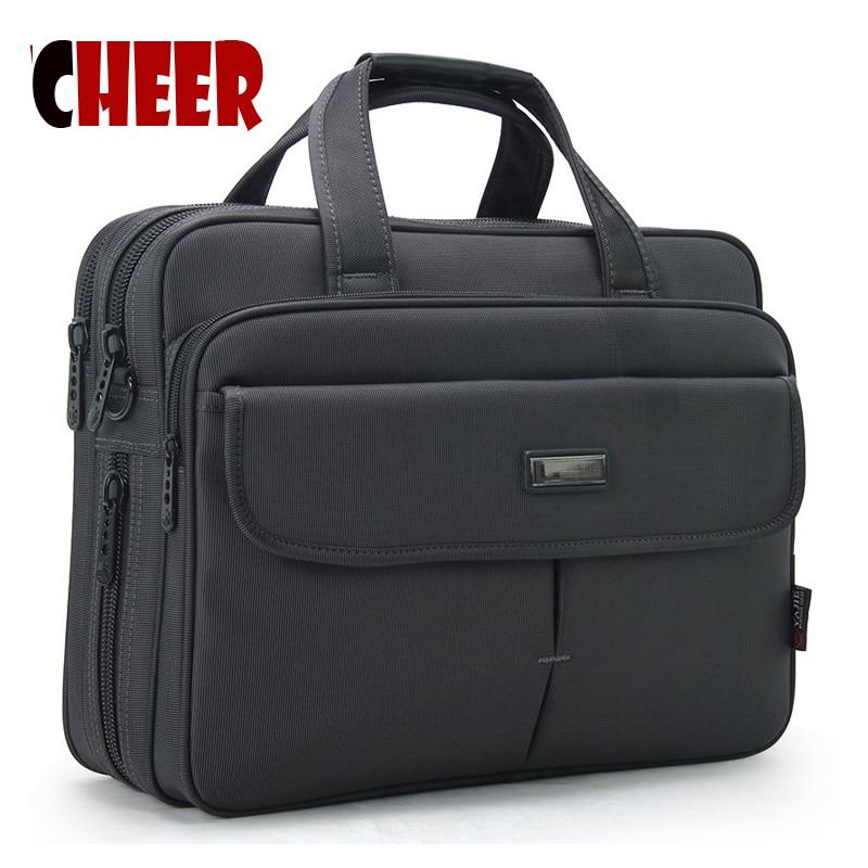 Briefcase de afaceri Laptop sac Geantă portabilă de umăr Capac de mare capacitate impermeabilă la Oxford Pungă de înaltă calitate Messenger