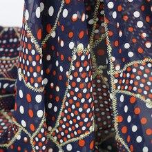 Polka dot chiffon gauze gold embossed fabric patchwork