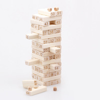 Wood Stacking Tower Toys Wooden Building Blocks 51Pcs/Lot Parent child Friends Games Tool DIY Assembling Shape Educational Toys