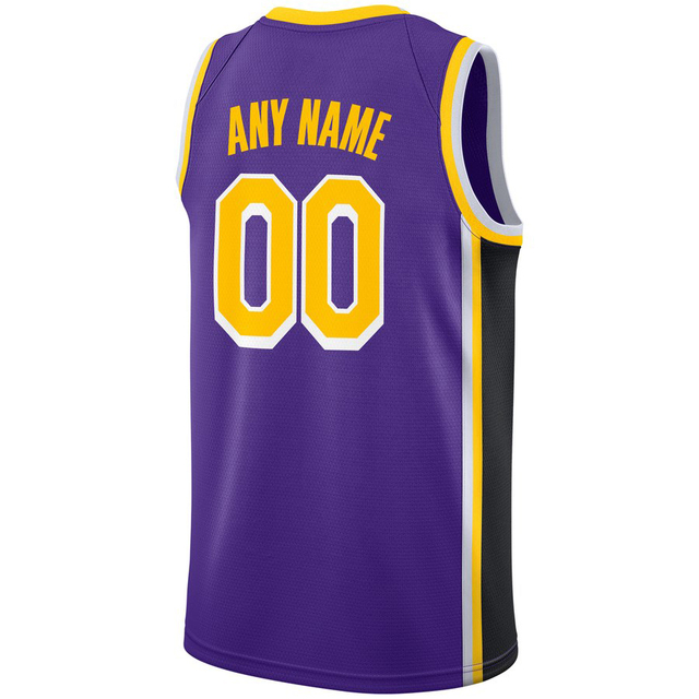 China OEM Custom Basketball Jersey Front   Back Team Logo Player Name  Number Design Your Own Embroidered Men Women Gold Purple 8c591ec2d6
