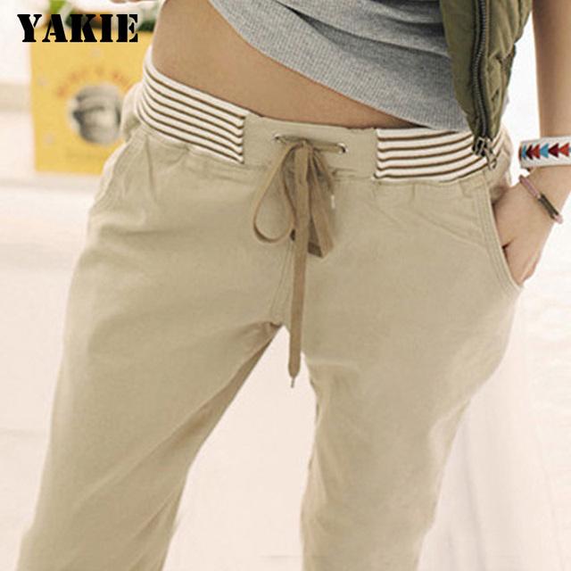 pantalones capri pantalones de lino para mujer