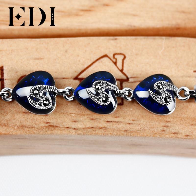 EDI Kvinnor 925 Thai Sterling Silver Ankel Armband För Kvinnor - Fina smycken - Foto 2