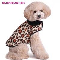 Polar Pies Ubrania Grube Zimowe Ciepłe Futrzane Dog Coat dla Małych średnie Psy Pies Kurtka Marki Zimno Kamizelka Zwierzę Strój Leopard