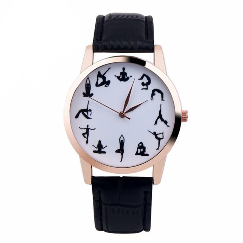 Superior New YOGA Girl Printed Pattern 3 Color Faux Leather Band Quartz Vogue Wrist Watch relogio feminino Gift Oct 25 * fabulous 2016 quicksand pattern leather band analog quartz vogue wrist watches 11 23