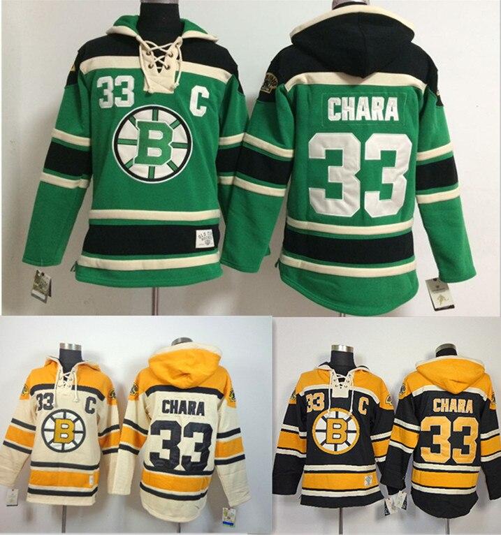 5c795335d Aliexpress.com Buy Cheap Boston Bruins classic Jersey Chara GREENWHITE  BLACK .