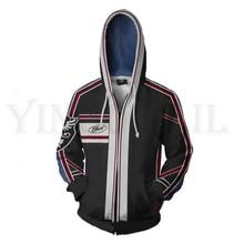 Anime Tekken 7 Sweatshirt Men and Women Zipper Hoodies Steve Fox 3d Print Hooded Jackets for Boys Costume Harajuku Streetwear цена и фото