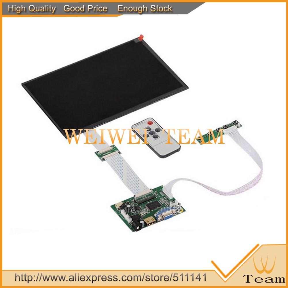 imágenes para 10.1 pulgadas IPS para Raspberry Pi monitor 1280 (RGB) * 800 TFT EJ101IA-01G HD Tablero de Conductor Del LCD Con Control Remoto hdmi VGA 2AV para Plátano pi