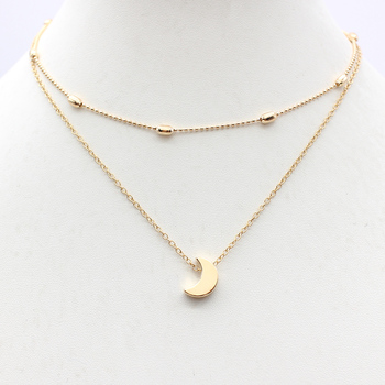 2019 Simple Love Heart Choker Necklace For Women Multi Layer Beads Chocker collar ras du cou collier femme Statement jewelry 5
