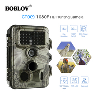 BOBLOV CT009 16MP Trail Hunting Camera Farm Wildlife Security Cam 42pcs IR LED Night Vision Photo Trap Camera 0,35S Trigger