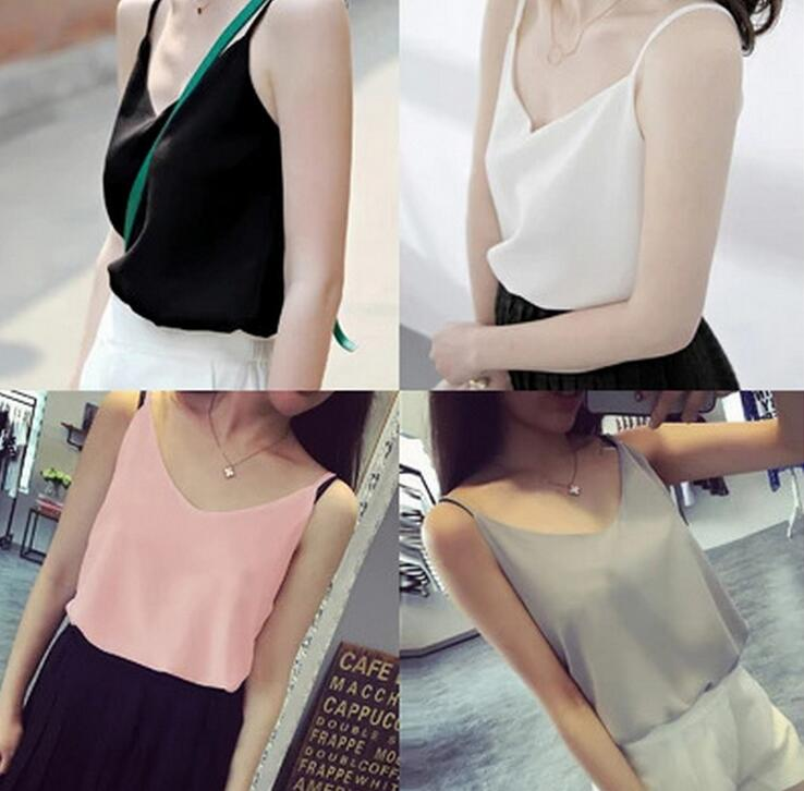 Top Women 2019 New Summer Sleeveless Shirt Soft V-neck Cami Loose Casual Female Tops Plus Size Vest Ladies Clothing Bretelles