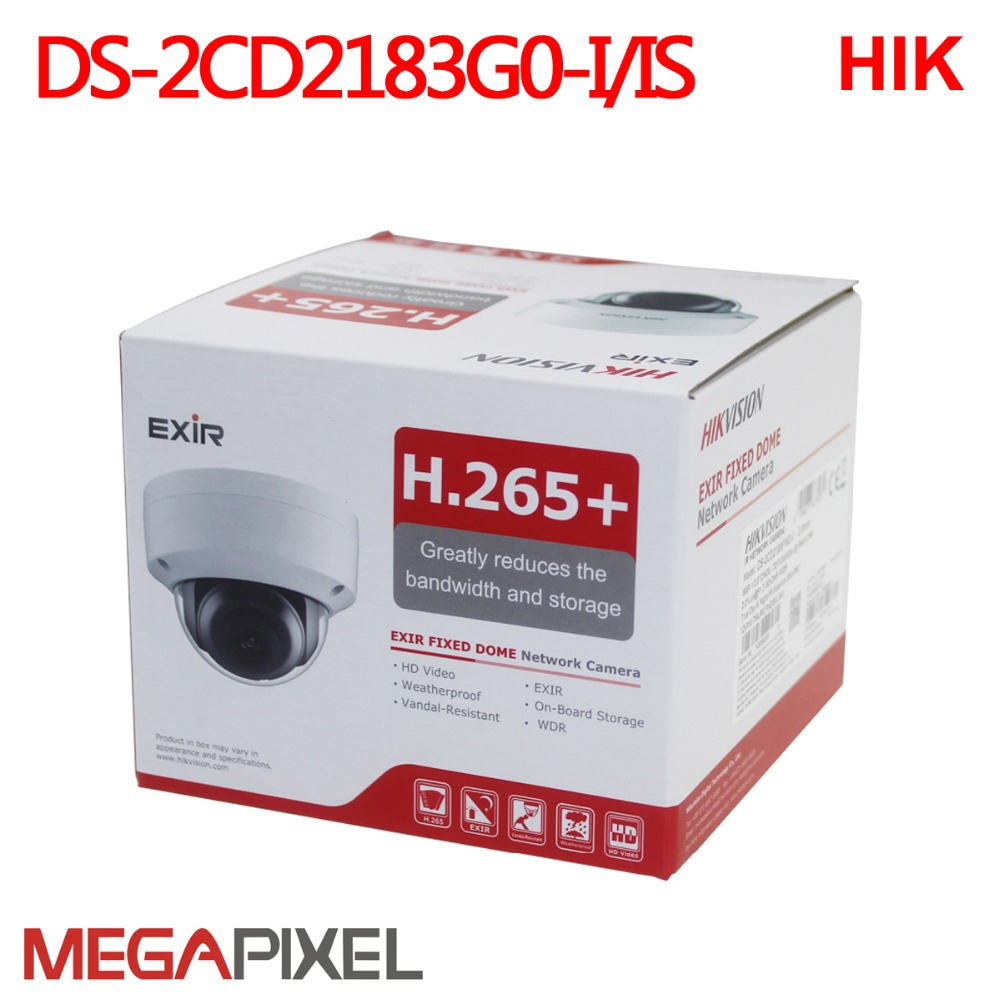 cctv video surveillance security ip camera hikvision poe outdoor infrared 8mp hd cam WDR home protection system DS 2CD2183G0 I