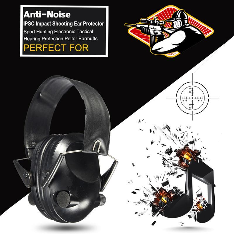 Prix pour 2017 Chaude Anti-bruit Sport Impact Chasse Électronique Tactique Oreille Tournage Protecteurs Protection Auditive Peltor Oreilles