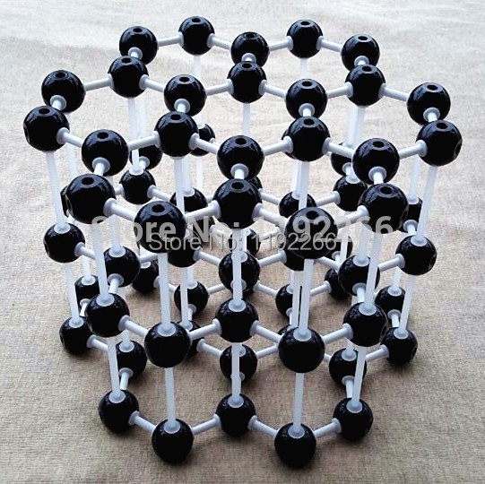 Graphite model LZ-23210 3layers 7 carbon hexagons Graphite crystal structure model Chemical teaching free shipping цена