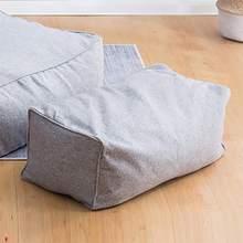 6 Colors Cotton Linen Square Solid Color Single Lazy Bean Bag Chair Footrest Sofa Set Cover Only Cover Home Textile