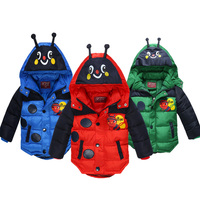 2 5 Years Children Cartoon Animal Bee Pattern Outerwear Kids Winter Warm Cotton Down Jacket Baby Boys Girls Cosplay Costume