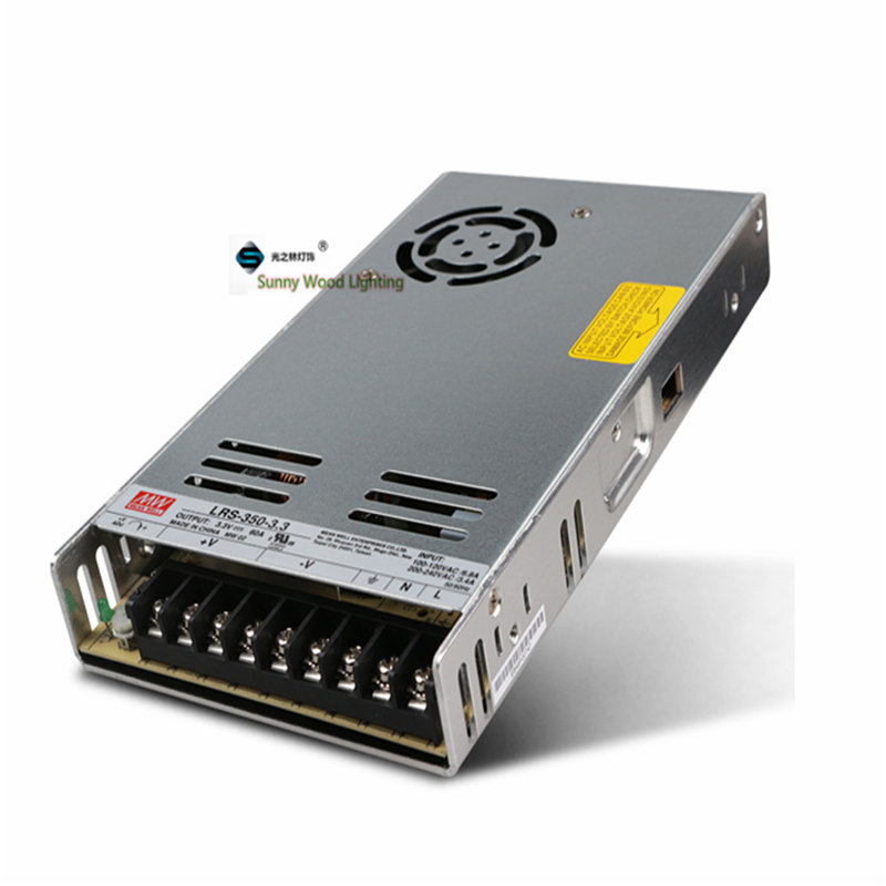 100-240Vac to 3.3VDC ,198W ,3.3V 60A UL Listed power supply ,LED screen ,monitor ultra slim driver ,LRS-350-3.3 60t65pes mbq60t65pes 60a 650v to 247 100