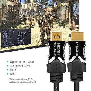 Image 3 - Navceker HDMI 2,1 Kabel 8K/60Hz 4K/120Hz 48Gbps HDCP 2,2 HDMI Kabel kabel für PS4 Splitter Schalter Audio Video Kabel 8K HDMI 2,1