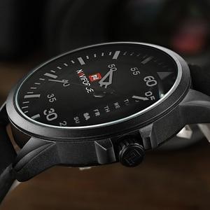 Image 2 - NAVIFORCE Luxury Brand Men Army Military Watches Mens Quartz Date Clock Man Leather Strap Sports Wrist Watch Relogio Masculino