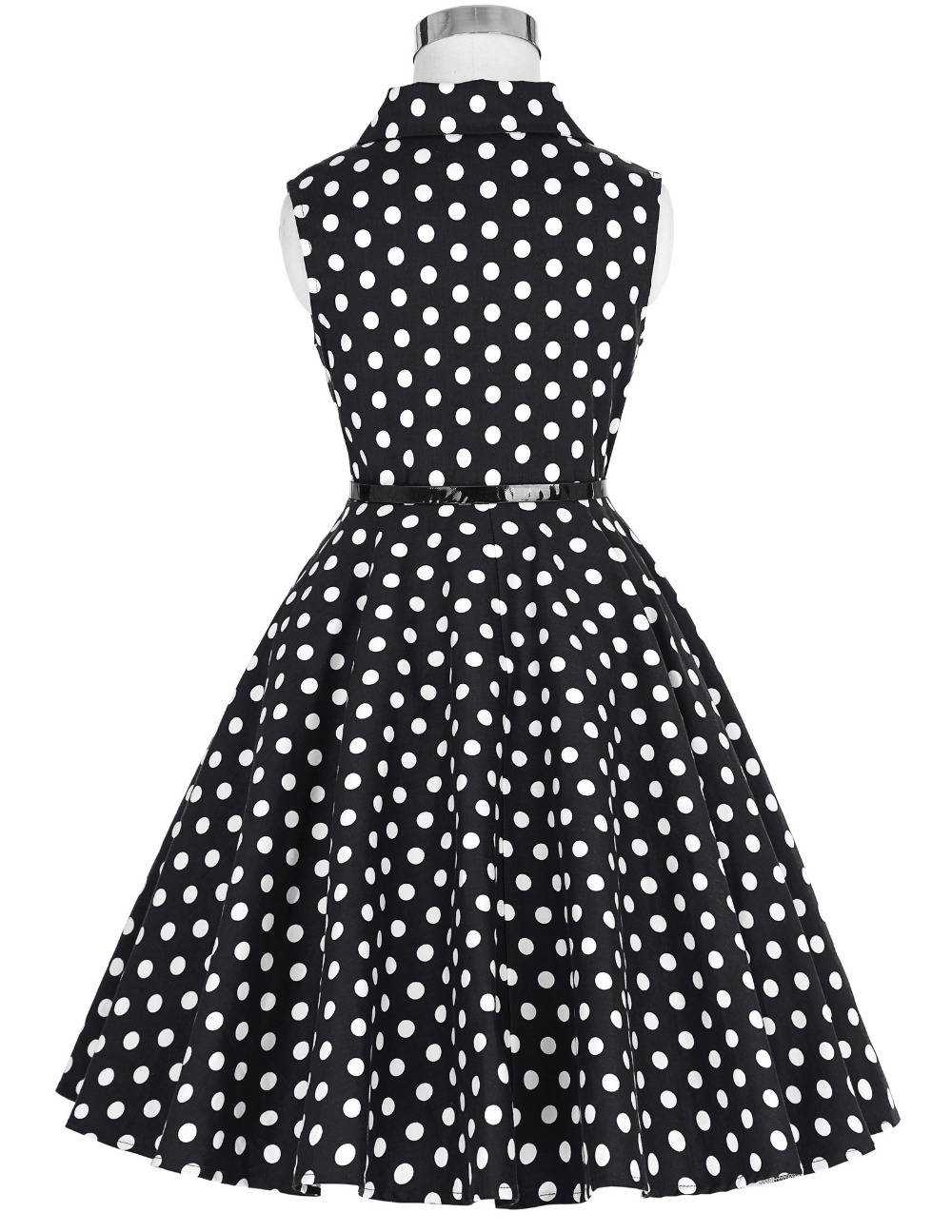 Grace Karin Flower Girl Dresses for Weddings 2017 Sleeveless Polka Dots Printed Vintage Pin Up Style Children's Clothing 8