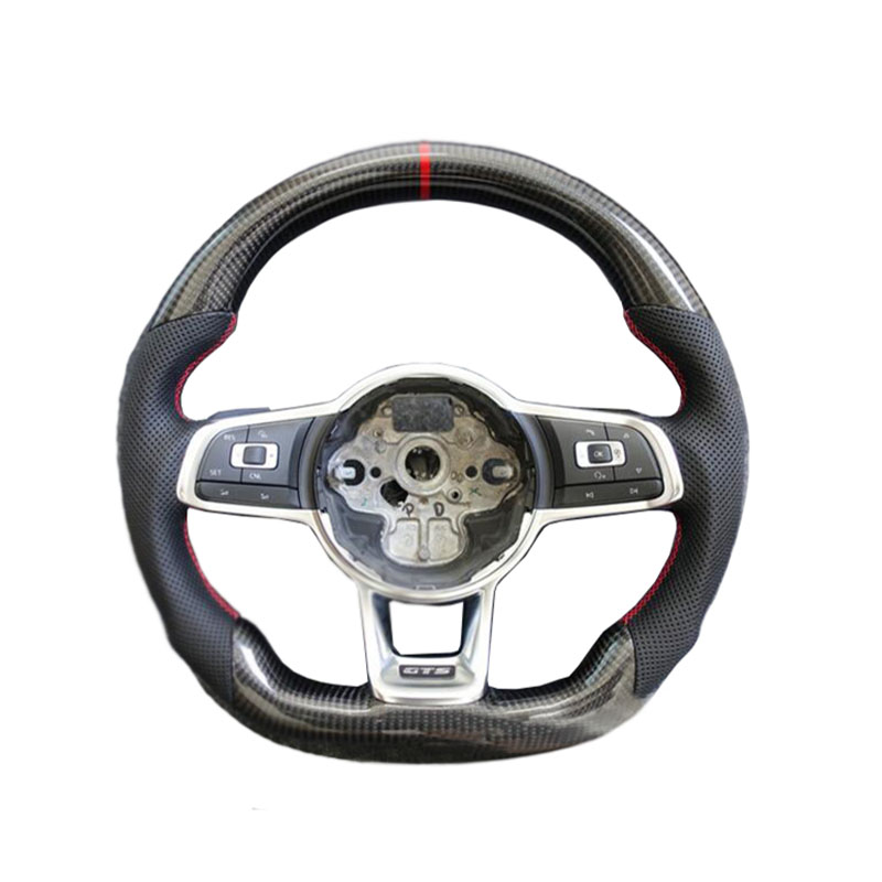 Carbon Fiber Replacement Steering Wheel For FIT VW Golf 7 GTI Golf R MK7 Jetta Passat Polo GTI Scirocco 2014-2018 mewant diy car steering wheel cover black suede for volkswagen vw golf 7 gti golf r mk7 vw polo gti scirocco 2015 2016