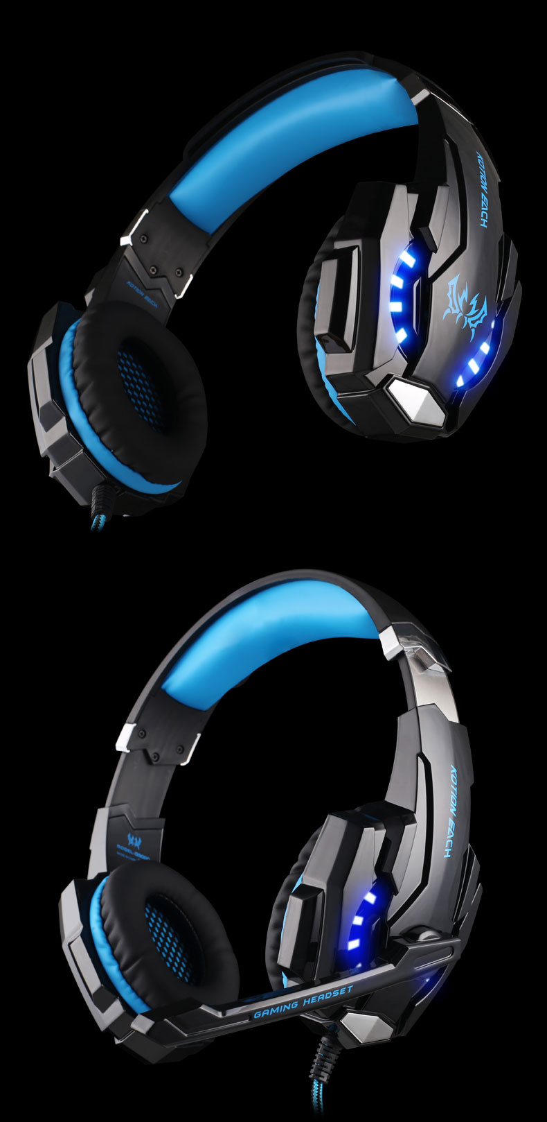 USB 7.1 Surround Sound Version Game Gaming Headphone 10
