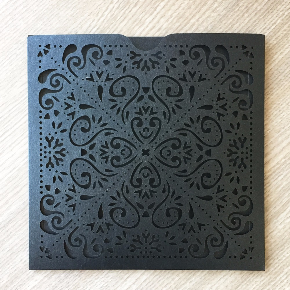 Us 39 9 43 Off 50pcs Lot Hollow Laser Cut Pearl Paper Lace Village Style Wedding Invitation Card Garden Theme Engagement Ceremony Invitations In