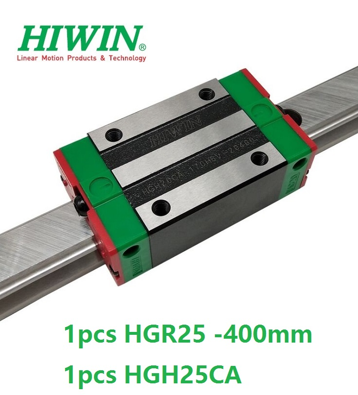 1pcs 100% original Hiwin linear guide HGR25 -L 400mm + 1pcs HGH25CA linear narrow block for cnc router