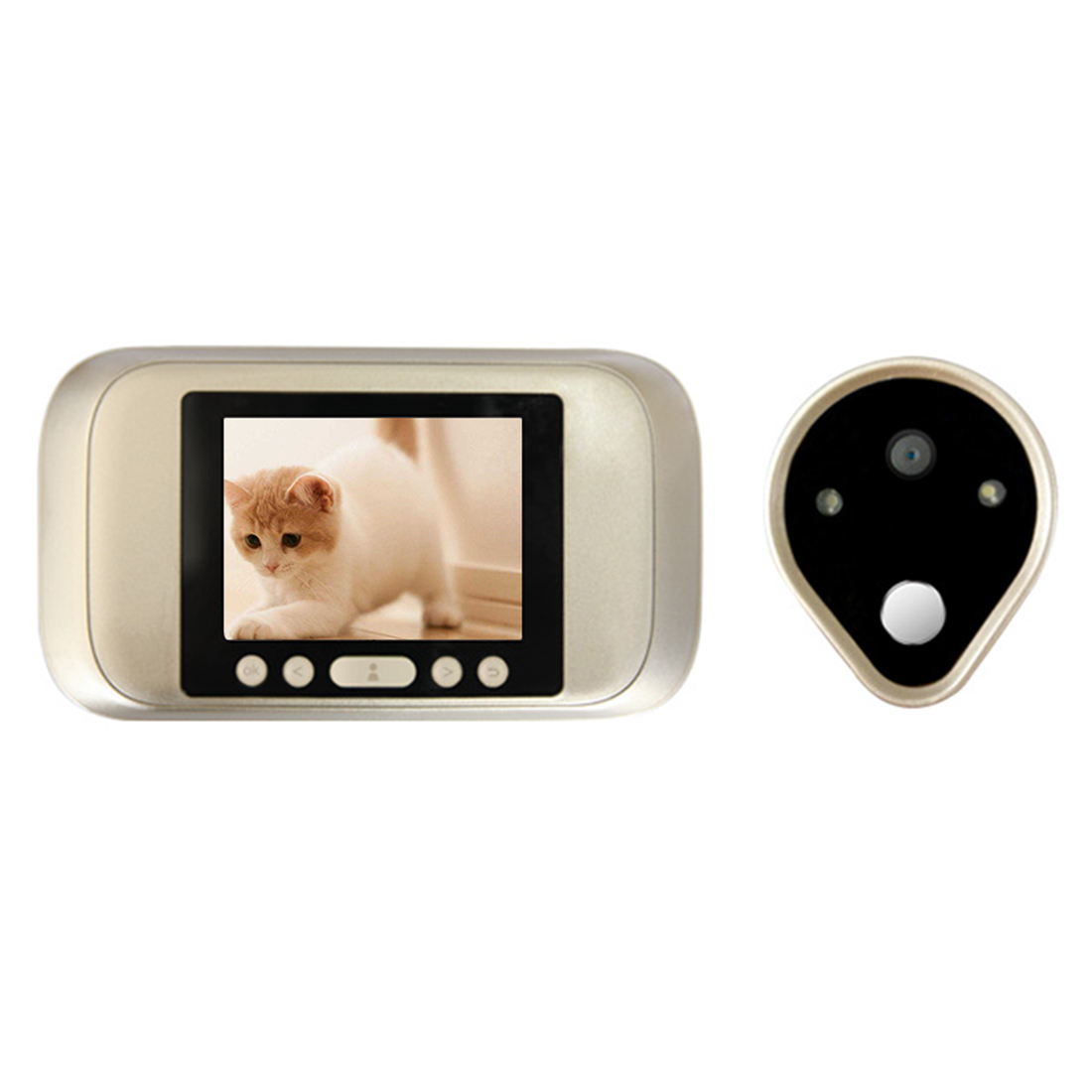 A32D 3.2 Inch Color Screen With Door Bell LED Lights Electronic Doorbell Door Viewer Home Security Peephole Door Camera x5 home smart doorbell security door peephole camera electronic cat eye and hd pixels tft color screen display audio door bell
