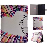 Slim Book Case For Samsung Galaxy Tab S2 9 7 T810 T815 Tablet Painting Folio Flip
