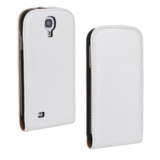 Couverture pour Samsung S4 Cas Flip Crazy Horse PU Coque En Cuir pour Samsung Galaxy S4 i9500 i9505 Fundas Movile Ecran Etui housse