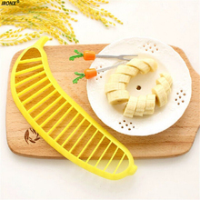 IRONX Banana Slicer Chopper Cutter Plastic Banana Salad Make Tool Fruit Salad Sausage Cereal Cutter Plastic