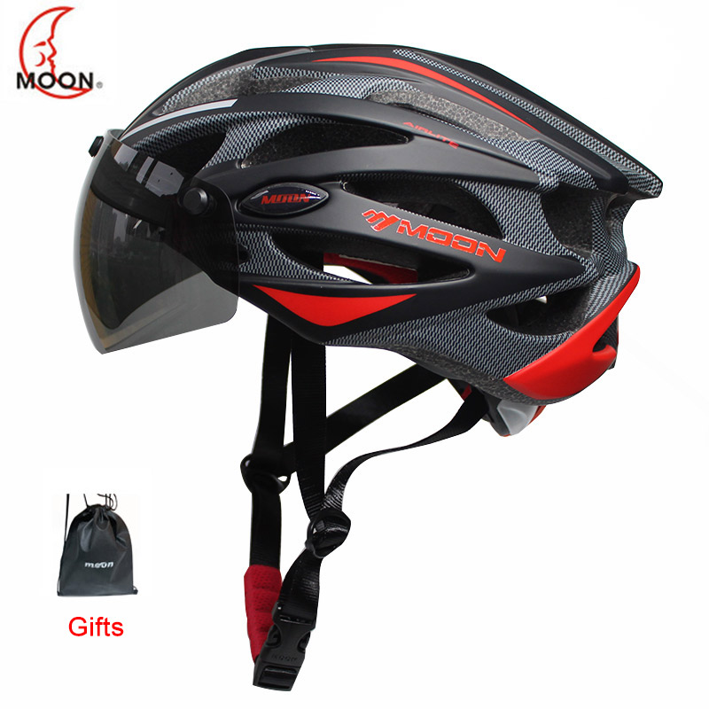 2019 MOON Integrally-molded Cycling Helmet For Racing Ultralight Bicycle Helmet Men And Women Bike Helmet With Magnetic Glasses