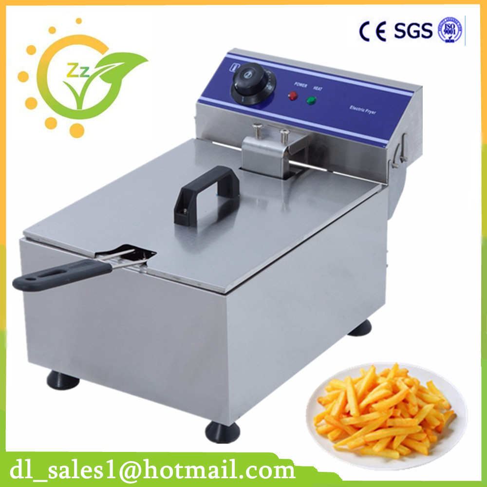 10L Electric Blast Furnace Cylinder Thickening Fryer Grill Fried Chicken Fried Dough Sticks Furnace Fries Machine Deep Fryer thick single cylinder electric fryer commercial electric fryer fried chicken oven fries fried squid machine dedicated