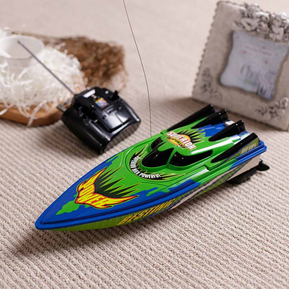 Constructive Radio Remote Control Twin Motor High Speed Boat Rc Racing Outdoor Control Distance 30m For Boys Birthday Gift Red/green