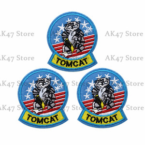1PCS Air Force Tomcat Embroidered PATCH Tom Cat Grumman Patch Iron or Sew on Caps,Bags,Backpacks,Clothes,Vest(China)