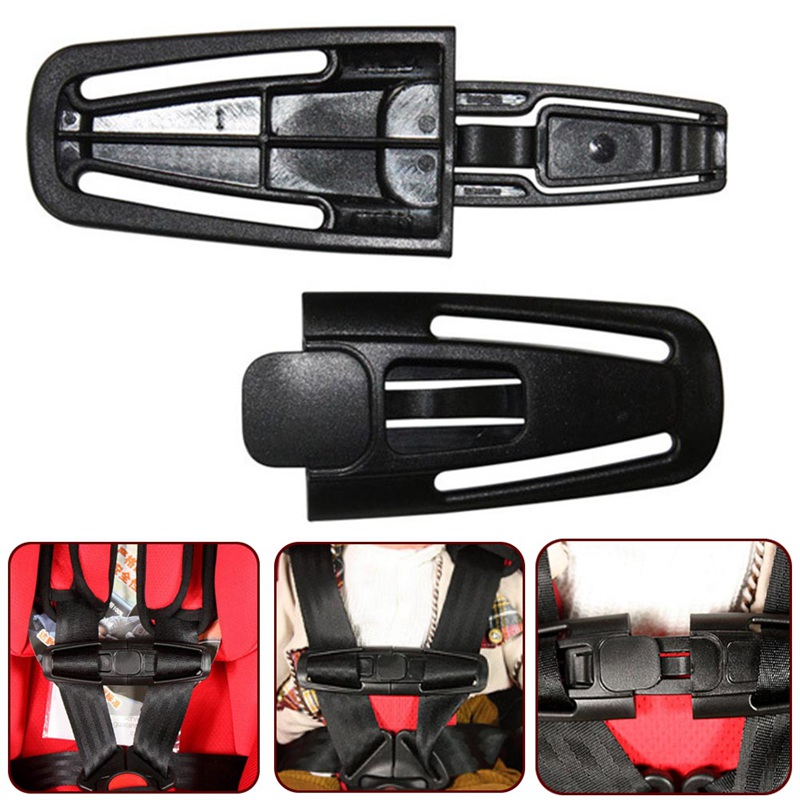 2018 Hot Sale Baby Safety Car Seat Strap Child Toddler Chest Harness Clip Safe Buckle Black